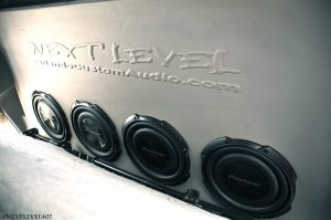 shallow subwoofer truck seat box