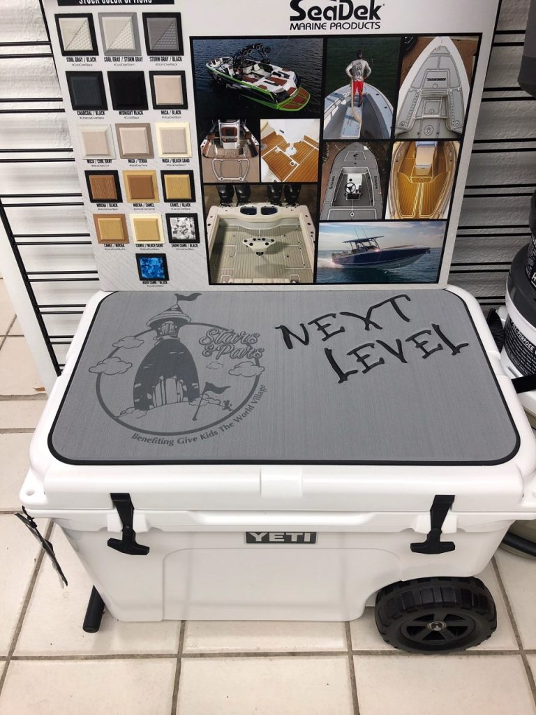 SeaDek® Installed Pad on Yeti Cooler